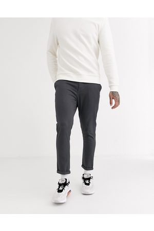 ASOS Muži Chino - Super skinny chinos in dark grey