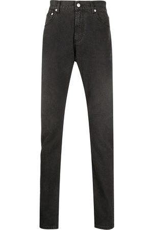 Alexander McQueen Logo-patch slim-fit jeans
