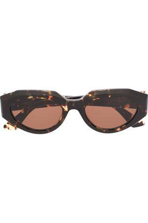 Bottega Veneta Ženy Sluneční brýle - Tortoiseshell oval sunglasses