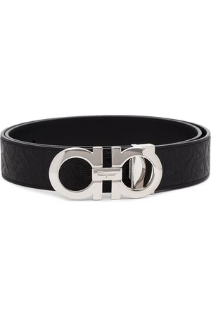 Salvatore Ferragamo Gancini reversible embossed belt