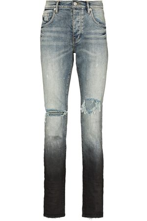 Purple Brand Distressed gradient-effect straight-leg jeans