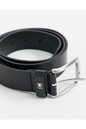 Tommy Hilfiger New denton 3.5cm leather belt in black