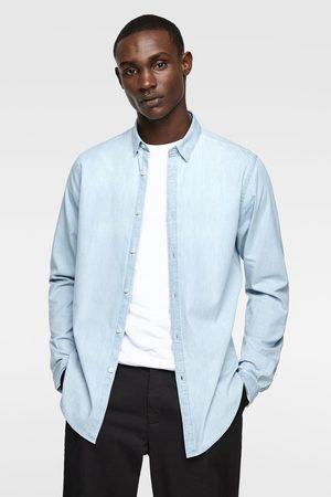 Zara Džínová košile opraného vzhledu