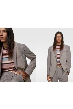 Zara Oblekové sako patchwork