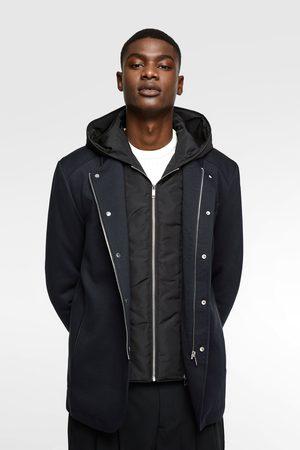 Zara Kombinovaný tříčtvrteční kabát