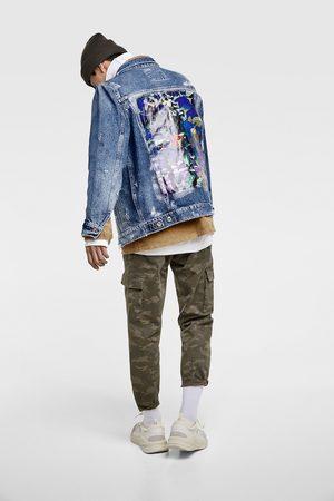 Zara Džínová bunda s potiskem na zádech