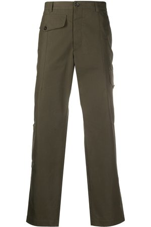 Alexander McQueen Cotton straight-leg trousers