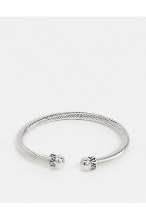 DesignB London DesignB bangle in silver with twisted rope design