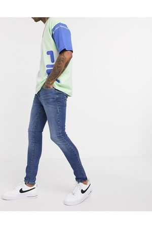 New Look Spray on jeans in mid blue