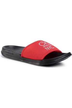 Calvin Klein Ženy Pantofle - Dámské červené pantofle