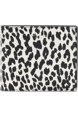 Saint Laurent Muži Peněženky - Leopard print leather wallet