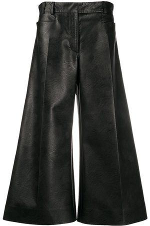 Stella McCartney Faux-leather wide-leg trousers
