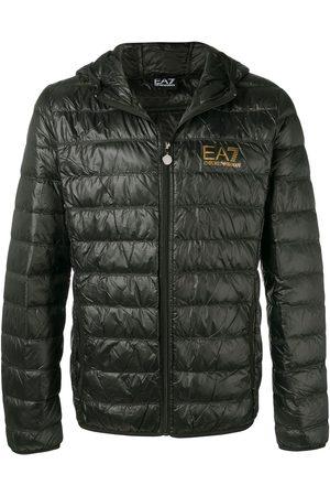 Ea7 Emporio Armani Logo print padded jacket