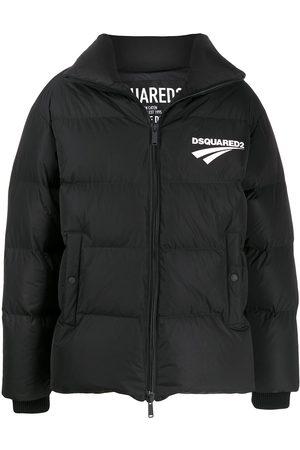 Dsquared2 Muži Péřové bundy - Logo-print padded jacket