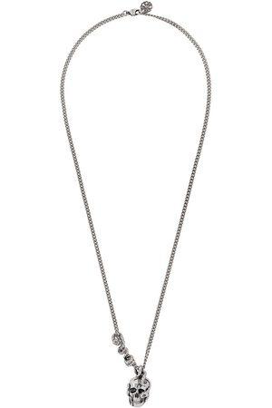 Alexander McQueen Skull and Snake pendant necklace