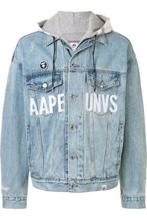 AAPE BY *A BATHING APE® Oversized denim jacket