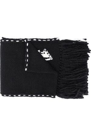 Alexander McQueen Skull knit frayed edge scarf