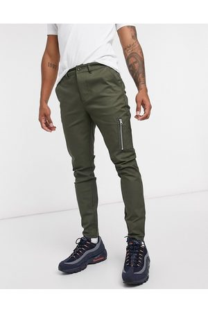 ASOS Power stretch chinos with MA1 pocket-Green