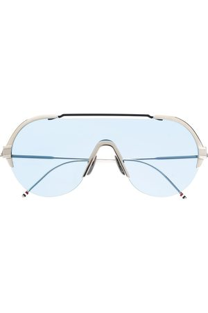 Thom Browne SILVER & NAVY SUNGLASSES