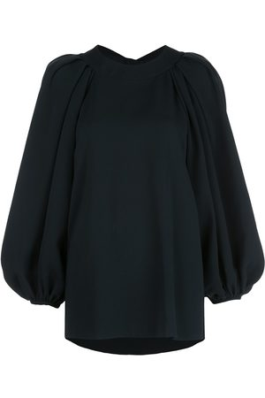 Oscar de la Renta Open-back balloon-sleeved blouse