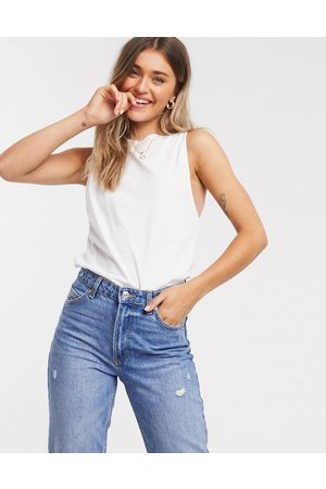 ASOS Super oversized vest with open back in white