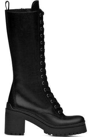 Miu Miu Military-style knee-high boots
