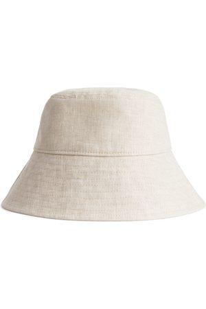 ARKET Linen Bucket Hat - Beige