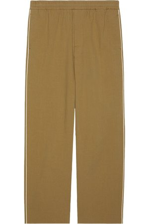 Gucci Logo-print straight-leg trousers