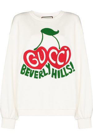Gucci Cherry print cotton sweatshirt