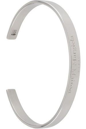 Maison Margiela Logo-engraved cuff bracelet