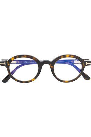 Tom Ford Round tortoiseshell-effect glasses
