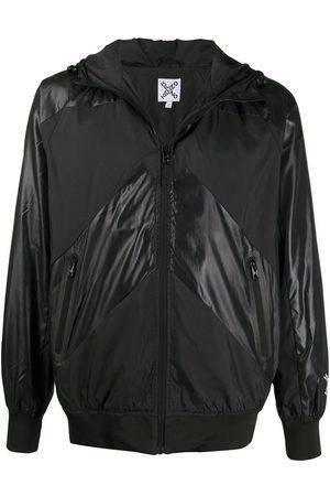 Kenzo Contrast panel hooded jacket
