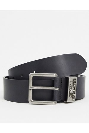 Armani Logo keeper belt in black