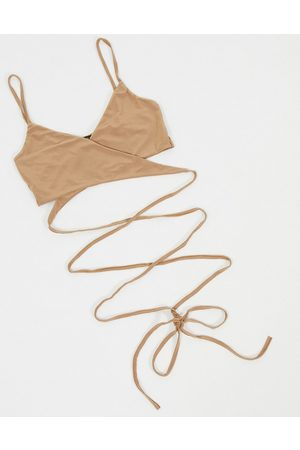 I saw it first Strapped bralet in brown-Beige