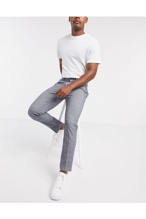 Calvin Klein Tapered pleated twill trousers-Navy