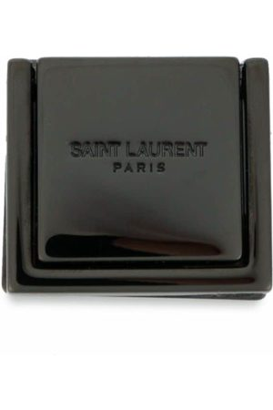 Saint Laurent Engraved-logo phone support ring