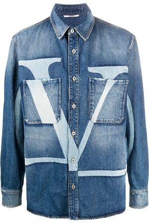 VALENTINO VLOGO-print denim jacket