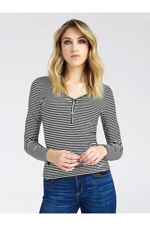 Guess Ženy S dlouhým rukávem - Dámské proužkované tričko s dlouhým rukávem
