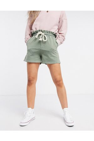 Pull&Bear Runner shorts in washed green