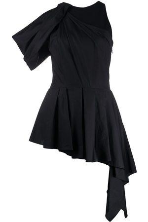 Alexander McQueen Halterneck drape detail blouse