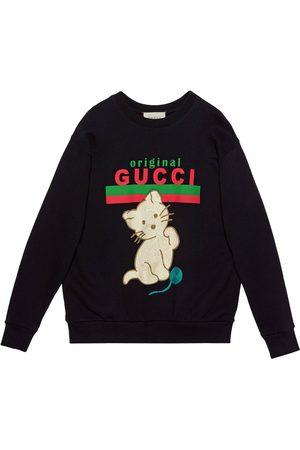 Gucci Kitten crew-neck sweatshirt