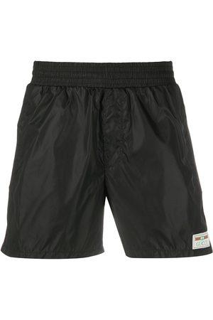 Gucci Label swim shorts