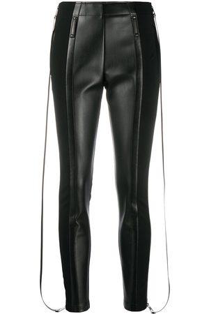 Burberry Zip detail stretch crepe jersey leggings