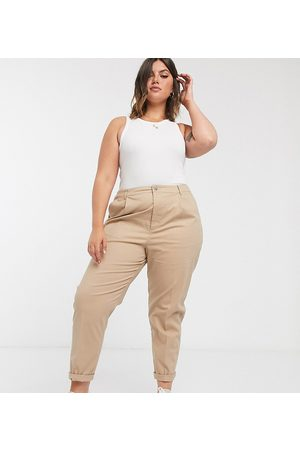 ASOS ASOS DESIGN Curve chino trousers in stone-Beige
