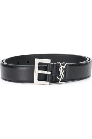 Saint Laurent Monogram square-buckle belt
