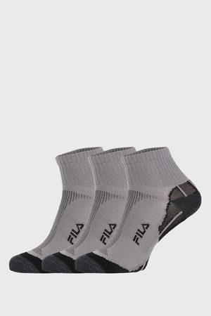 Fila 3 PACK šedých ponožek Multisport