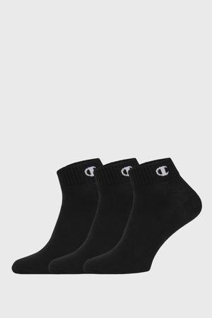 Champion 3 PACK kotníkových černých ponožek