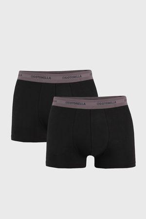 Cotonella 2 PACK šedočerných boxerek Uomo Comfort