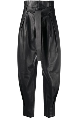 RED Valentino Leather paperbag trousers