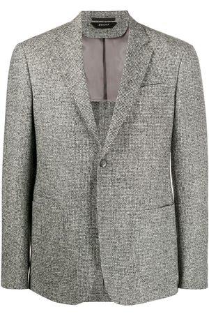 Z Zegna Houndstooth wool blazer